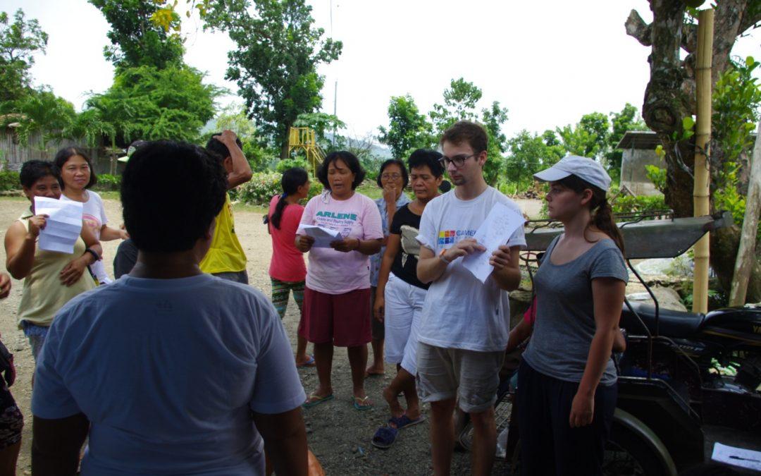Témoignages de volontaires de CAMELEON aux Philippines