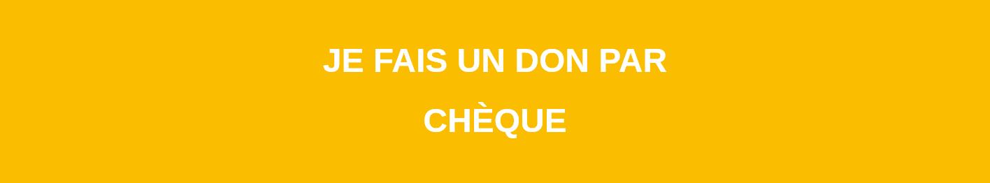 Donation – chèque