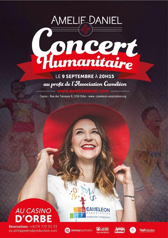 SUISSE : le concert haut en couleur d'Amélie Daniel !