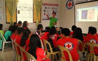 Les jeunes de CAMELEON partenaires de la Croix Rouge philippine