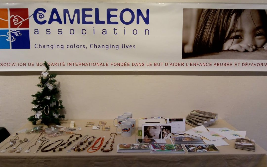 Filipino handicraft sale in Chalon-sur-Saône