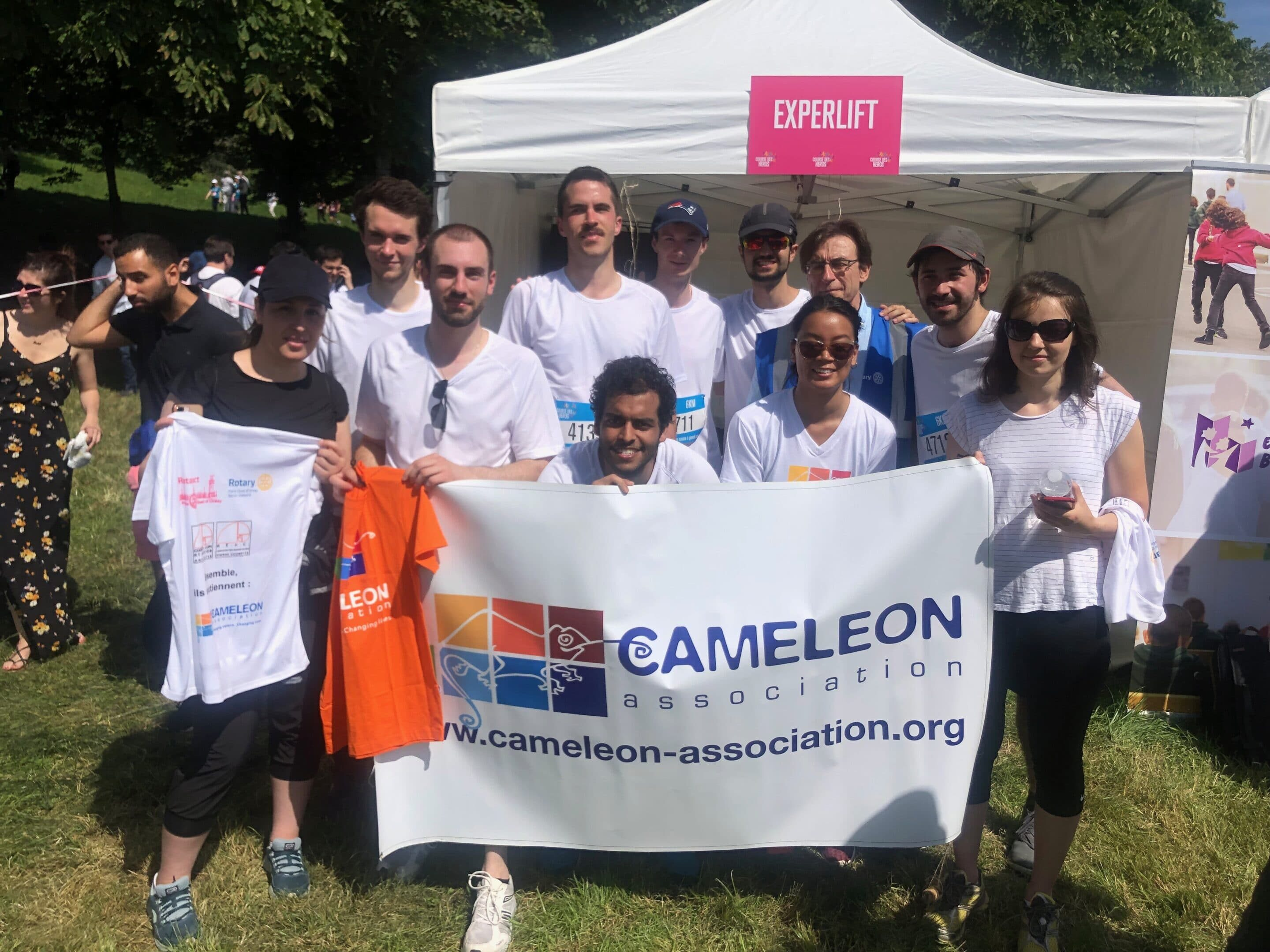 CAMELEON at the Courses des Héros Paris and Lyon (Paris and Lyon Heroes' Run)