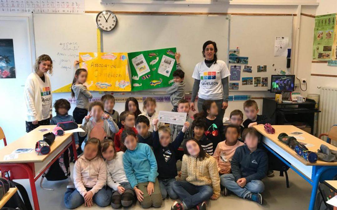 Belle action solidaire d'une école d'Orgeval pour soutenir CAMELEON!