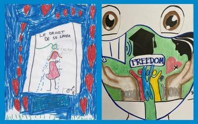 Concours de dessins à l'occasion de la journée anniversaire de la Convention Internationale des Droits de l'Enfant